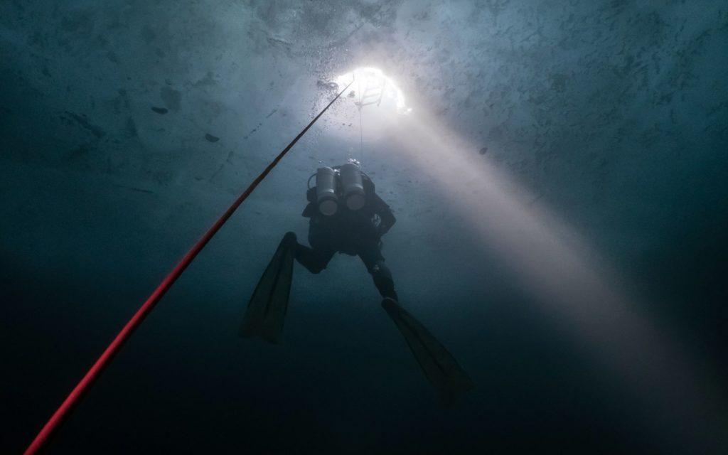 Glacialis plongée sous glace lac merlet