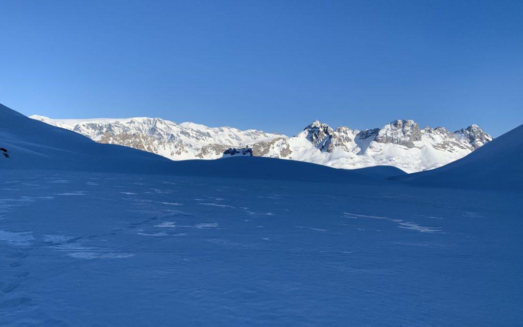 Glacialis Lac Merlet enneigé
