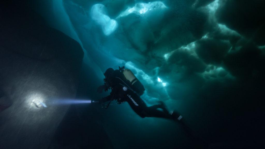 Plongée sous glace Glacialis lac Sassolo