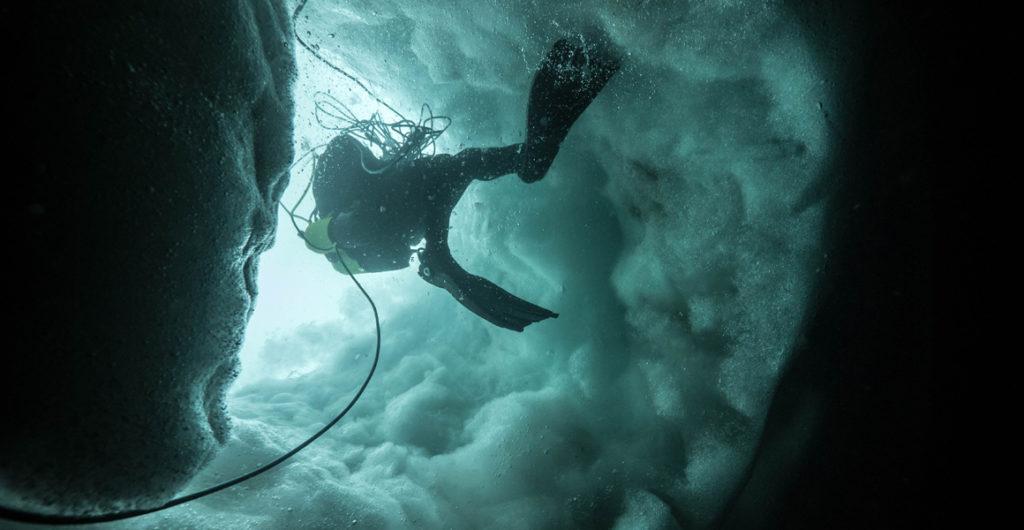 Plongée sous glace lac Sassolo